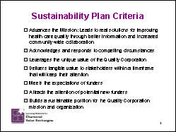 Slide 3: Sustainability Plan Criteria