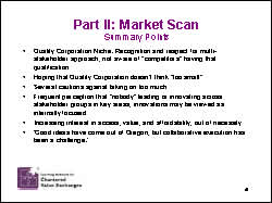 Slide 10: Part II: Market Scan: Summary Points