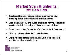 Slide 11: Market Scan Highlights: State Health Reform
