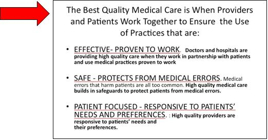 Excerpt from Frequently Asked Questions About the Community Checkup that defines quality health care and describes quality of care in the Puget Sound region. The checkup focuses mostly on effective care.