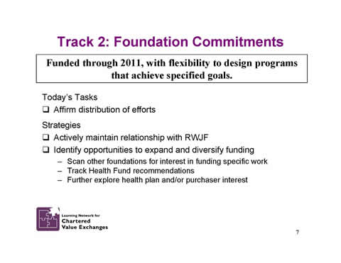 Slide 7: Track 2: Foundation Commitments