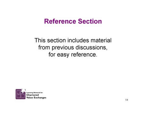 Slide 14: Reference Section