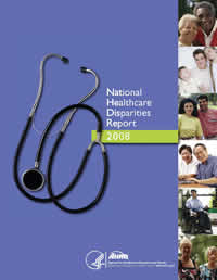Cover of National Healthcare Disparities Report, 2008