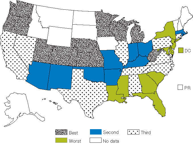 Chapter Effectiveness Continued AHRQ Archive - Hiv us map